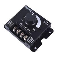 dc12v/24v 30a led switch dimmer controller for led strip single color black I2