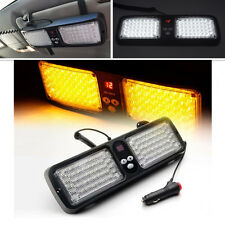 Car SUV Sun Visor Emergency Hazard Warning Flash Beacon Strobe Light 86LED Amber