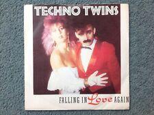 Techno twins FALLING IN LOVE AGAIN vinyl single