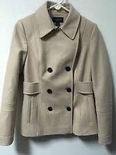 NWOT Victoria's Secret Wool/Polyester/Viscose Pea Coat Size 10 Beige