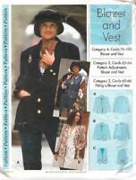 Sewing Step by Step BLAZER & VEST 1994 Misses Sizes 4 - 22 Uncut