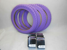 Purple Bike Tires and Tubes 16 x 2.125 1.75 1.95 Kids Girls Bicycle Fits all 16""