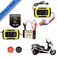 Caricabatterie Mantenitore Batteria 6A 12V Con Cavetti Per Auto e Moto IEC60335