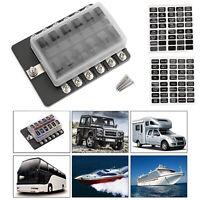 12 Voie Voiture Boîte Porte Fusible Fuse Box pour Car Boat Marine Bus Van 32V