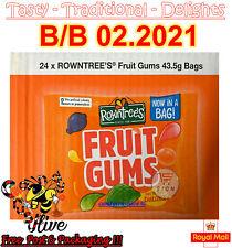 Nestle Rowntree's Fruit Gums 43.5g Bags Fruit Flavoured Gums - 24 packs