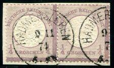 DR 1872 16 gestempeltes PAAR HADMERSLEBEN 300€(D4467