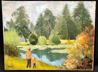 1970s Irish Impressionist Landscape Oil Painting -- R.A. DUNLOP 1893-1973