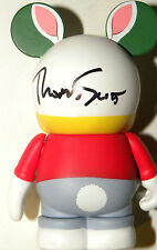disney ARTIST signed vinylmation white rabbit alice in wonderland thomas scott
