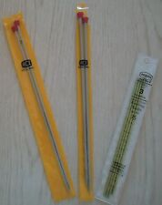 KNITTING NEEDLES SINGLE POINT & DOUBLE POINT  -  NEW, NEVER USED.