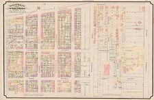 1890 MONTREAL CANADA, ST. MARY'S WARD, DOMINION GLASS WORKS, COPY PLAT ATLAS MAP