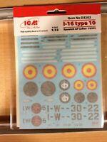 Calcas Españolas ICM,I-16 type 10,escala 1/32,REF.D3203