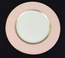 PINK/GOLD trim CARIBBEE by LENOX china DINNER PLATE(S) discontinued 1970