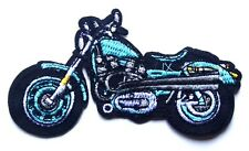 Blue Motorbike patch Classic Custom Embroidered Iron Sew On Biker Motorcycle