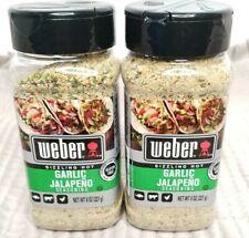 WEBER Sizzling Hot Garlic Jalapeño Seasoning 8 Oz Expiration 03/2023 Lot of 2