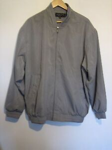 A MANS GREY DYLAN STAR  MENS CLUB JACKET WITH ZIP FASTENER SIZE LARGE