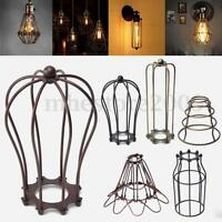 Vintage Pendant Trouble Light Bulb Guard Wire Cage Ceiling Hanging Lampshade DIY
