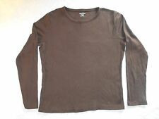 ladies brown St. John's Bay classic long sleeve tee size large