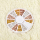 Fashion Nail Art Tips Decorations Wheel Silver Gems Crystals Glitter Rhinestones