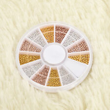 Fashion Nail Art Tips Decorations Wheel Silver Gems Crystals Glitter Rhinestones