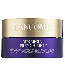 d2a1bea8616 Lancome Renergie French Lift Night Duo Retightening Cream Massage Disk 1.7  Oz
