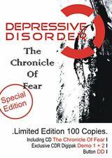 DEPRESSIVE DISORDER the chronicle of fear / demo 1 + 2 2CD 2009 LTD.100