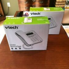 (2) Vtech Cd1153 Corded Speaker Telephones with Caller Id/ Call Waiting