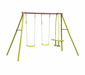 Malo 2 Swings and Glider Children's Playground Activity Set Aged 3 to 12 years