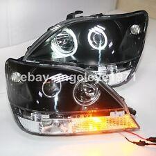 Lexus RX300 Headlights Herrier Kluger CCFL Angel Eyes Front Lamp 1998-2002 Year