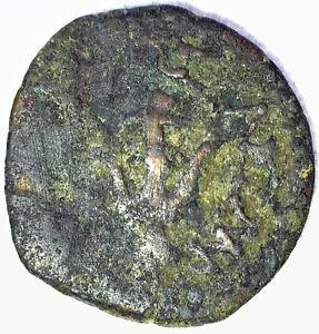 Ancient Jewish Widows Mite Half Prutah Hasmonean Judea Star Sun Anchor Bronze
