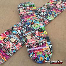 Skateboard Sticker Bomb Wrap Vinyl NEW 230mm x 1000mm Genuine 3M