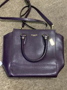 Hardly Used Purple Leather Coach Bag Gorgeous Item Vintage 2014 Perfect Cond