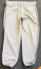 Baseball Softball Pants Teamwork Athletic Apparel Size 44 Gray Blue Pinstripe