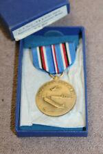 Original WW2 U.S. Navy American Theatre Campaign Boxed Medal w/Ribbon, VG