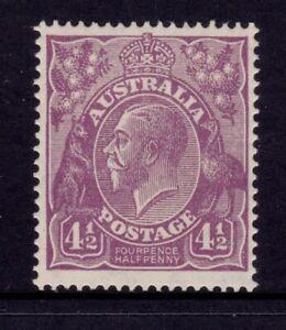 Australia KGV Head SMW P14 - 4½d Violet MLH SG 92
