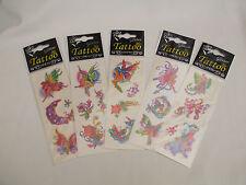 5 Sheets Fun Tattoos Assorted Fairy Designs BN