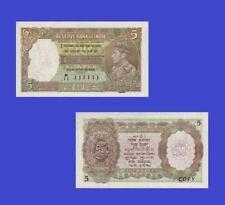 Reproduktion- British India 5 Rupees King George VI 1937. UNC