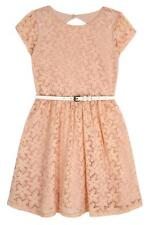 Yumi Girls Lace Skater Dress 11 - 12 Years BNWT RRP £42.95 Baby Pink Uk Freepost