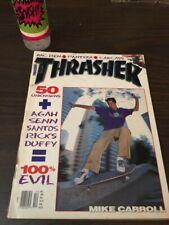 Thrasher Skateboard Magazine December 1992 Mike Carroll Gershon Mosley 12/92 Dec