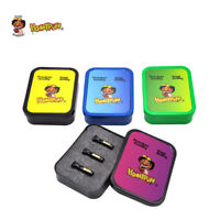HONEYPUFF 3X Black Glass Reusable Rolling Mouth Filter Tips + 1 X Plastic Box