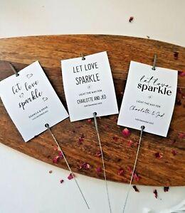 Sparkler Tags/Let Love Sparkle/Wedding Sparkler Tags - Personalised