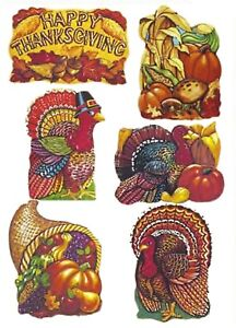 Party Time 6 pcs Thanksgiving  Cutouts Cutouts (16 in. to 18 in.)