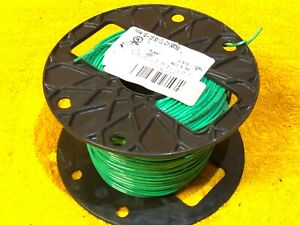 500' ROLL #18 AWG GREEN MTW TFFN 600 VOLT STRANDED COPPER HOOK UP WIRE