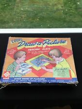 Codeg Draw a Picture Tracing Slate Vintage 1950s Toy