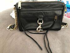 Rebecca Minkoff M.A.C. black / gold chain crossbody bag