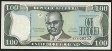 Liberia 100 Dollars 2008 Pick 30 UNC #7728333