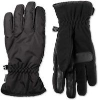 Isotoner Mens Smart Dri Fleece Lined Touch Screen Winter Gloves Medium