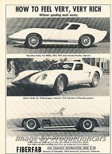 1966 Fiberfab Banshee Centurion Original Advertisement Print Art Car Ad J726