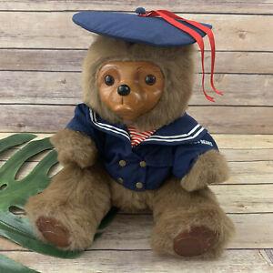 Robert Raikes Christopher The Pouty Sailor Bear Teddy Nautical Wood Face Plush