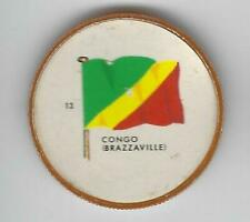 1963 General Mills Flags of the World Premium Coins #13 Congo (Brazzaville)