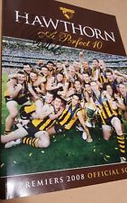 Hawthorn Perfect 10 Premiers 2008 Official Magazine SIGNED SAM MITCHELL CAPTAIN